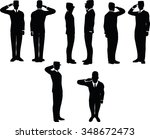businessman silhouette wih army ...   Shutterstock .eps vector #348672473