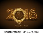 vector 2016 happy new year... | Shutterstock .eps vector #348676703