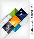 paper square shapes banner.... | Shutterstock .eps vector #348680117