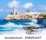 el morro castle in havana with... | Shutterstock . vector #348681647