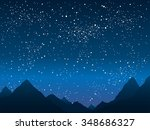 vector background. mountains in ... | Shutterstock .eps vector #348686327