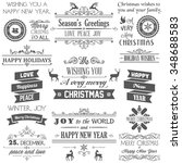 christmas design elements | Shutterstock .eps vector #348688583