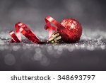 christmas background with red... | Shutterstock . vector #348693797