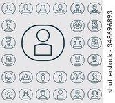 avatar outline  thin  flat ... | Shutterstock .eps vector #348696893