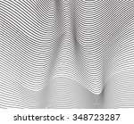 black and white mobious wave... | Shutterstock . vector #348723287