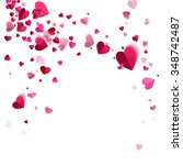 whirlwind confetti of hearts on ... | Shutterstock .eps vector #348742487