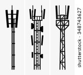 telecommunications towers | Shutterstock .eps vector #348743627