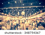abstract blurred people... | Shutterstock . vector #348754367