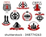 chess icons with red and black... | Shutterstock .eps vector #348774263