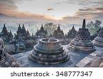 Sunrise At Borobudur Temple ...