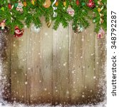christmas congratulation... | Shutterstock . vector #348792287