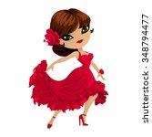 flamenco dancer. pretty girl...   Shutterstock .eps vector #348794477