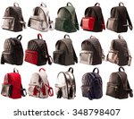women backpacks side view... | Shutterstock . vector #348798407