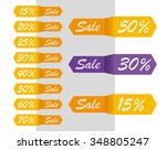 vector sale labels tags... | Shutterstock .eps vector #348805247