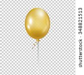 Gold Balloon. Transparent...