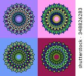 mandala. vintage decorative... | Shutterstock .eps vector #348826283