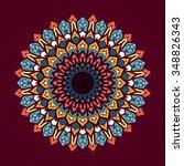 mandala. vintage decorative... | Shutterstock .eps vector #348826343