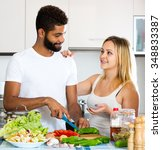 portrait smiling black husband... | Shutterstock . vector #348833387