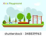 playground background. play in... | Shutterstock .eps vector #348839963