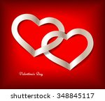 red valentine's day background... | Shutterstock .eps vector #348845117