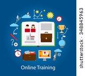 online education and webinar... | Shutterstock .eps vector #348845963