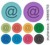 color email flat icon set on...