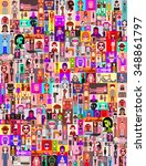 large group of people. art... | Shutterstock .eps vector #348861797