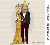 Fashion Royal Couple Of Lion...
