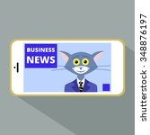 business news cats on the phone | Shutterstock .eps vector #348876197