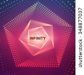 vector infinite pentagonal... | Shutterstock .eps vector #348877037
