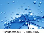 abstract 3d rendering of low... | Shutterstock . vector #348884507