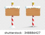 christmas winter snow blank... | Shutterstock .eps vector #348886427