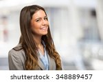 portrait of a young smiling... | Shutterstock . vector #348889457