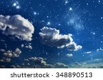 night sky with stars and full... | Shutterstock . vector #348890513