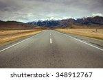 Landscape Asphalt Road In New...