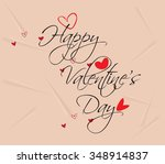 happy valentine's day hand... | Shutterstock .eps vector #348914837