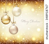christmas background with... | Shutterstock .eps vector #348918767