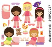 slumber party vector... | Shutterstock .eps vector #348927287