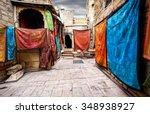 city street market with shops... | Shutterstock . vector #348938927