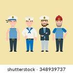 cartoon sailor characters set...