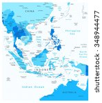 southeast asia detailed map... | Shutterstock .eps vector #348944477