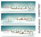 holiday christmas banners with...