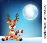 illustration of baby deer...   Shutterstock .eps vector #348956027
