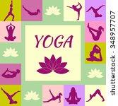 beautiful illustration of yoga... | Shutterstock .eps vector #348957707