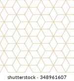 retro pattern with golden... | Shutterstock .eps vector #348961607