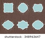 vector set of labels and tags... | Shutterstock .eps vector #348963647