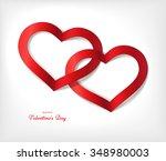 white valentine's day... | Shutterstock .eps vector #348980003