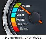 orange needle on master level... | Shutterstock . vector #348984083