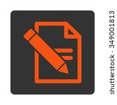 edit records vector icon. style ... | Shutterstock .eps vector #349001813