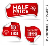 clearance sale red sticker... | Shutterstock .eps vector #349015943
